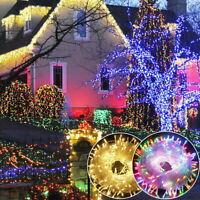 Outdoor Fairy Lights 100-200 LED Waterproof Christmas Tree Wedding US PLUG IN