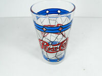 Vintage Tiffany Style Stained Glass Pepsi Tumbler Measures 5quot; Tall Free Ship
