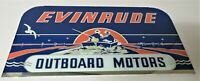 Original Reverse Glass Evinrude Outboard Motor Sign. Insert for lighted can sign