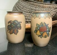 Set of 2 Lauritz Hjorth Hand Painted Pottery 5