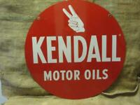 Vintage Kendall Motor Oil Sign gt; Antique Old Gas Station Double Sided Auto 9823