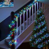LED Cluster String Fairy Lights Indoor Outdoor Xmas Christmas Tree House Lamps