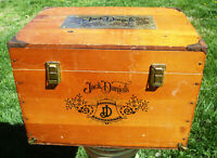 Jack Daniels - Large Wooden Box - Brass Accents - Whiskey - Vintage - Rare Find