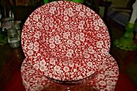 CHURCHILL CALICO RED TRANSFERWARE set of 6 bowls in new condition (LOT OF 6 )