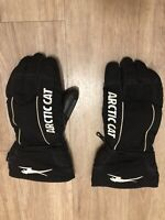 VINTAGE TEAM ARCTIC CAT SNOWMOBILE GLOVES Men's Leather Medium Snow Winter