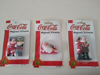 Coca Cola Santa Claus Magnets from 1997 Three Unopened