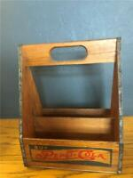 1940's-50's Vintage double dash dot Pepsi advertising Wooden Bottle Carrier