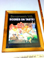 Seagrams V.O. whiskey bar sign mirror whisky football Canada import liquor WU8