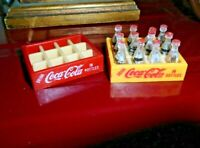 Coca Cola Miniature 12 Bottles in Case Plastic amp; 1 empty case