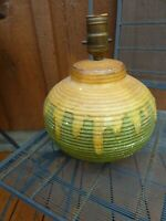 SCARCE - Vintage Pottery Table lamp.. Un-identified. No markings ?? Mid Century