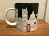 Starbucks Coffee London England Embossed Relief Mug Collectors City Series NEW