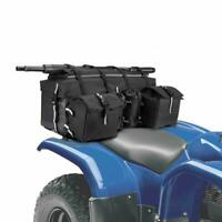 ATV Rear Bag Rear Rack Gear Cargo Storage Seat Quad Bag w/ Water Bottle Holders