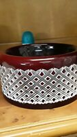 AJKA HUNGARY  RUBY RED DOUBLE CASED CUT TO CLEAR CRYSTAL BOWL 9