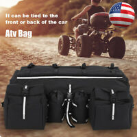 Oxford Cloth ATV Rear Rack Luggage Storage Cargo Car Gear Pack Tank Saddle Bag