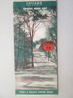 Vintage Phillips 66 Map of Chicago 1941