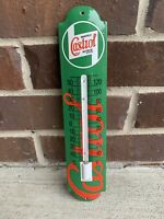 Castrol Thermometer Gas Oil Porcelain  Advertising Sign No Reserve!!!!
