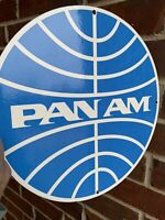 Pan Am Airlines Aviation Gasoline Porcelain Sign