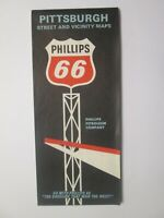 Phillips 66 Map of Pittsburgh and Vicinity 1967