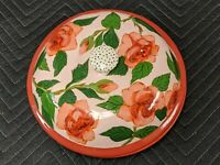 Rare Vintage 1997 signed Droll Designs Coral Rose Covered 11