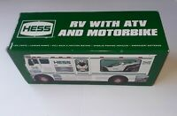 Hess 2018 Toy Truck RV with ATV and Motorbike- HOLIDAY TOY TRUCK- NEW IN BOX