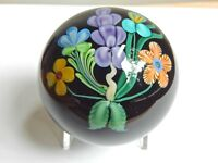 ORIENT & FLUME MAGNUM BLACK AMETHYST PAPERWEIGHT OF BOUQUET OF FLOWERS