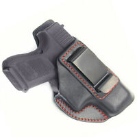 For G26 IWB Leather Holster Right Handed Conceal Carry CCW Fits Glock 26