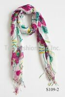 women scarves lightweight in fashion floral print long scarf.soft