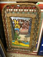 Rare Vintage Myers's JAMAICAN RUM Bar Mirror Sign MANCAVE MYERS RUM