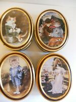 Vintage 4 Oval Tin Boxes 1990 Bentley's Candy