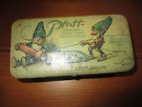 RARE VINTAGE PFAFF SEWING MACHINE TIN BOX GNOMES LITHO