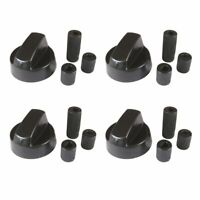 4 Pack Black Universal Control Knob With 12 Adapters Replacement Knobs Adapter $12.90