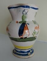 Rare Henriot Quimper France Small Pitcher with Woman