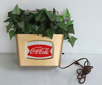 1950s COCA COLA Fishtail Light-Up Planter Sign  PRICE BROS.
