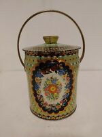 Vintage Murray Allen Tin Canister Imported Made in England Container w Lid