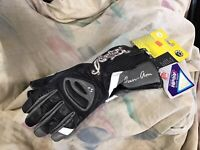 NEW CAN AM SPYDER LEATHER STREET MOTORCYCLE GLOVES WOMANS SIZE LG $45.00