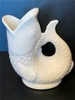 Gurgling Gluggling White Fish Pitcher 2013 Porcelain 9