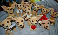 Vintage Taco Bell Talking Chihuahuas Stuffies Set of 11 Fun