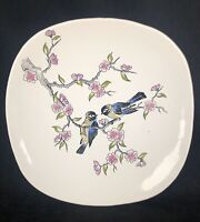 POTTERY BIRDS PLATE PLATTER LONGWY FRANCE WALL HANGING INALTERABLES 10 1/2""