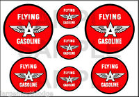 1 1 2 3 4 INCH FLYING A GASOLINE DECALS STICKERS
