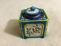 ANTIQUE-2ND HALF 19TH CENTURY-LONGWY POTTERY OF FRANCE - HAND PAINTED INKWELL