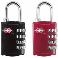 TSA Approved Luggage Lock - 4 Digit Combination Padlock For Travel Backpack Bag