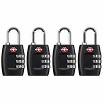 TSA Approved Luggage Lock 3 Digit Small Combination Padlock For Travel Suitcase
