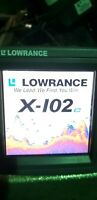 Lowrance x102 color Monitor, power cable and transducer.