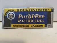 Purol Pep Motor Fuel Pure Oil Vintage Matchbook Cover
