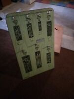 Vintage 1974 SK Tools Hardware Store Wrench Set Standing Display Rack w/ Box