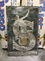 Singer Sewing Machine Metal Advertising Sign France Leonetto Cappiello French