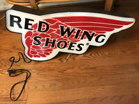 Beautiful Red Wing Shoe Sign