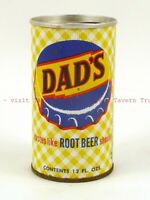 Scarce 1960s MINNESOTA St Paul Gold Medal DAD'S ROOT BEER can 12oz Tavern Trove