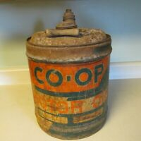 CO-OP MOTOR OIL 5-GALLON CAN TENNESSEE FARMERS COOPERATIVE NASHVILLE, TENNESSEE!