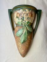 Large ROSEVILLE Middle Period Wall Pocket, DAHLROSE Pattern